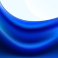 Blue fabric with soft folds Royalty Free Stock Photo
