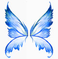 Blue fairy wings watercolor hand draw painting Royalty Free Stock Photo