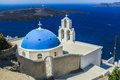 Blue famouse dome church at firostefani on santorini island in greece see my other works in portfolio Stock Photo