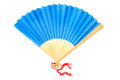 Blue fan Stock Image