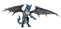 Blue fantasy dragon d render of a Royalty Free Stock Images
