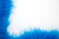 Blue Feather Boa Background Royalty Free Stock Photos