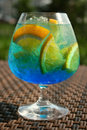 Blue fever cocktail Stock Photography