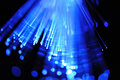 Blue fiber optics Stock Photos