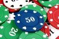 Blue Fifty Gambling Chip