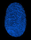 Blue Fingerprint Stock Photos