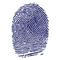Blue Fingerprint Stock Image