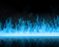 Blue fire illustration of abstract Stock Images