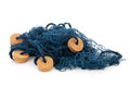 Blue fishing net Royalty Free Stock Photo