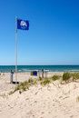 Blue Flag beach Royalty Free Stock Photo