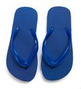 Blue flipflops on a white background Royalty Free Stock Images