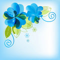 Blue floral background Stock Photos