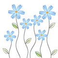 Blue floral background vector Stock Photography