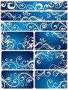 Blue Floral Backgrounds Royalty Free Stock Photo