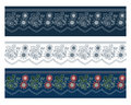 Blue floral banners Royalty Free Stock Images