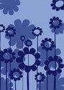 Blue floral composition Stock Photos