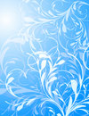 Blue Floral Vector Background Stock Image