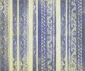 Blue floral wood carved stripes Royalty Free Stock Photo