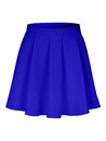 Blue flounce skirt on invisible mannequin isolated on white