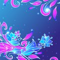 Blue flower background vector illustration Stock Image