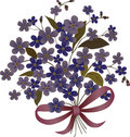 Blue flower bouquet illustration Royalty Free Stock Photos