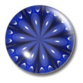 Blue Flower Button Orb Royalty Free Stock Photo