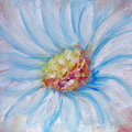Blue flower painting Stock Photos
