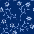 Blue flower seamless pattern Stock Photo