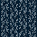 Blue flowered wallpaper Royalty Free Stock Photography