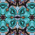 Blue Flowers background. The abstract roses