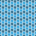 Blue flowers dark background seamless pattern vector patternt Royalty Free Stock Image