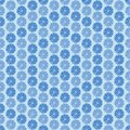 Blue flowers ornament seamless pattern vector ilustration Royalty Free Stock Image