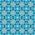 Blue flowers tracery abstract regular on a square background Stock Photo