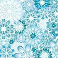 Blue Flowery Vector Illustration Texture Royalty Free Stock Photo