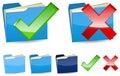 Blue folder Stock Photo