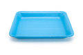 Blue food tray plastic with white background Stock Photography