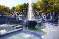 Blue Fountain in Subotica Royalty Free Stock Photo