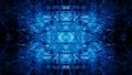 Blue Fractal Forms