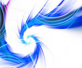 Blue Fractal Plasma Vortex Royalty Free Stock Photo