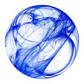 Blue fractal sphere Stock Photos