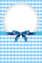 Blue frame with napkin Stock Images