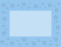 Blue frame with stars Royalty Free Stock Photo