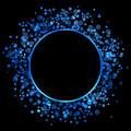 Blue frame vector abstract on black Royalty Free Stock Photo
