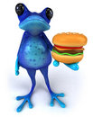 Blue frog Royalty Free Stock Photos