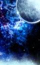 Blue Frozen Galaxy Royalty Free Stock Photo