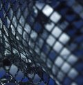 Blue full frame abstract reflective background Royalty Free Stock Photo