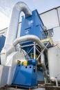 Blue fumes ventilator polish coal power station Stock Image
