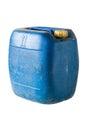 Blue gallon on white isolate background Stock Photos