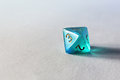 Blue game dice d8 Royalty Free Stock Photo