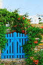 Blue garden gate Royalty Free Stock Photo